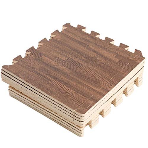 Homgrace Juego de esterillas protectoras, 60 x 60, con forma de puzzle, para proteger el suelo de oficinas, gimnasios, garajes, aparatos de gimnasia, para hacer fitness, yoga (12 Matten)
