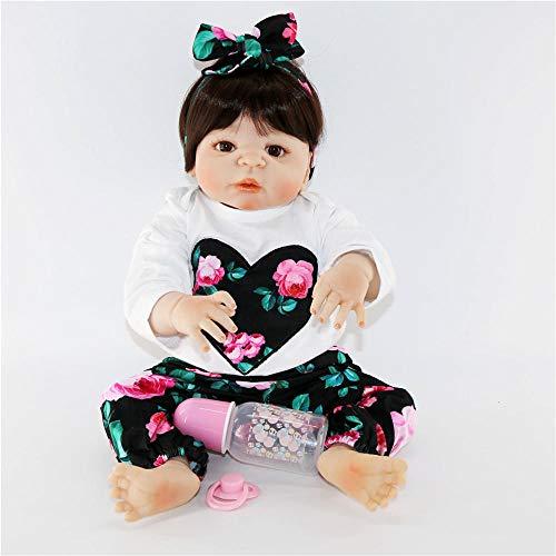 Unexceptionable-Dolls Lebensechte 23Newborn kann volle Silikon Reborn Puppen Baby 57cm lebendige Prinzessin stilvolle Weihnachtenfür MädchenWeihnachten Geburtstagsgeschenke für Kinderbaden