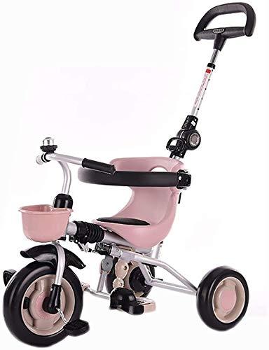 JINHHCaminar Cochecito de Bicicletas, Bicicletas niños Triciclo 1/3/6 Años de Edad Kid Hombres de Bicicletas y Ligera de Las Mujeres Kid Cochecito Plegable Triciclo Triciclo Niños