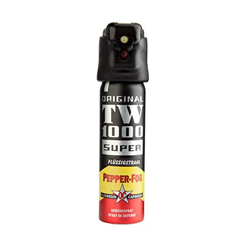 Abwehrspray TW1000 Pfefferspray zielgenauer Strahl, 75 ml mit LED