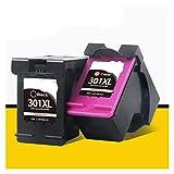 Tinta de impresora 2 piezas y 1 set se puede reemplazar para HP301 HP 301 XL Deskjet DeskJet 2050S 2510 2540 3050A 3054 1000 1050 1510 2000 2050 impresora productos de oficina ( Color : 1 set 301 )