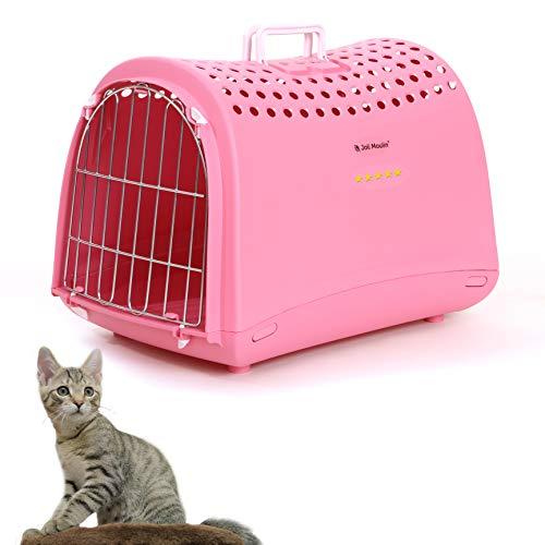 Joli Moulin, trasportino per gatti e cuccioli, 40 x 50 cm, rosa | sostenibile 100% plastica riciclata o non tossica, plastica ecologica | 100% riciclabile per l'ambiente