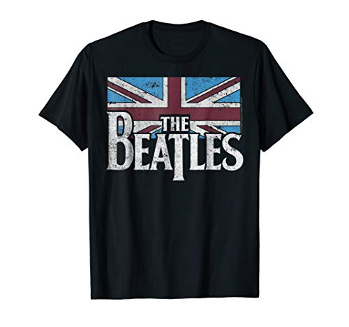 The Beatles British Flag Red,white, and Blue T-shirt