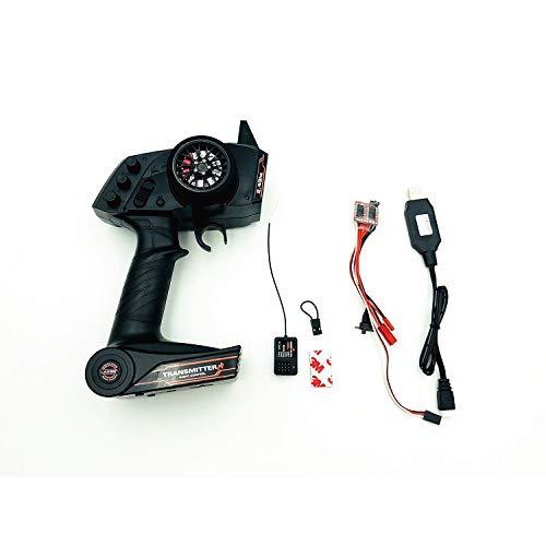 2.4G AX5S Fernbedienung + ESC + USB-Aufladung + GT2-Empfänger, Elektronische Ausrüstung Upgrade Teilesatz für WPL KIT B36 C24 B16 B14 B24 RC Auto