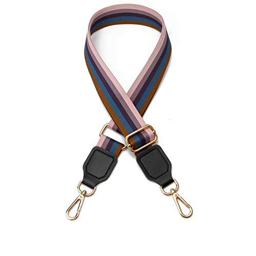 NEHARO Bag Shoulder Strap Stripe Adjustable Wide Shoulder Strap Backpack Shoulder Messenger Bag Widened Strap Bag Handbag (Color : Pink, Size : 140x5cm)