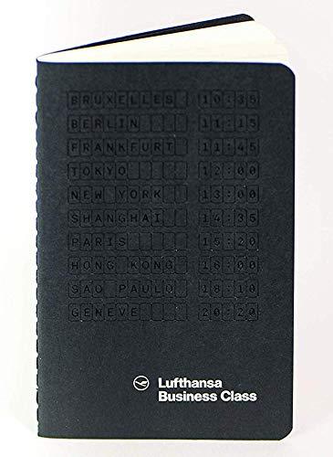 Lufthansa x Moleskine Business Class Notizbuch Notizblock Original Lufthansa Lizenzprodukt in schwarz