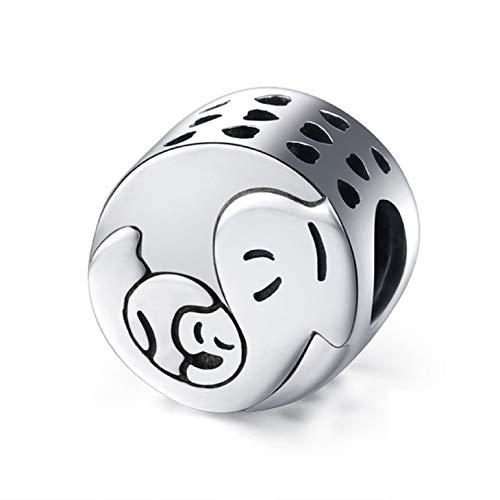 Abalorios de plata de ley EVESCITY para pulseras de abalorios  los mejores regalos de joyería
