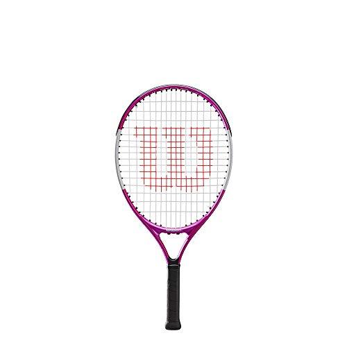 Wilson Tennisschläger Ultra Pink 21, für Kinder im Alter von 5 - 6 Jahre, AirLite-Legierung, rosa/weiß, WR028010U