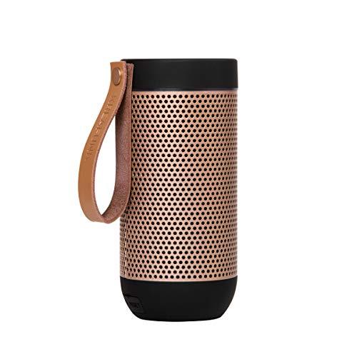 KREAFUNK aFUNK True Wireless Stereo Bluetooth Lautsprecher, für alle Bluetooth Geräte geeignet, inklusive eingebauten Mikrofon, schwarz/roségold