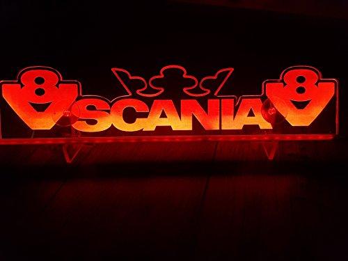 Other 24?V LED Light Neon Plaque pour Trucker Camion Blanc Eclairage Plaque Table Couronne Cabine D?coration Accessoires Grav? au Laser 24?V/5?W