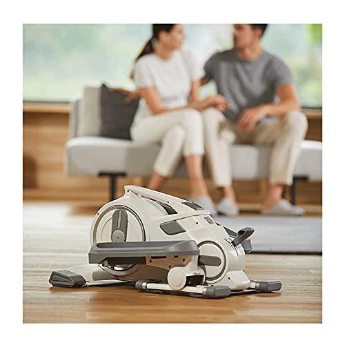 Lixiabeidai Máquina elíptica pequeña silenciosa de Paso a Paso de Peso multifunción para el hogar Mini Equipo de Fitness - máquina de Pedal Equipo de Fitness Ideal para,White