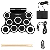 9 Pads Electronic Drum Set with Headphone, Built in Speaker, Drum...