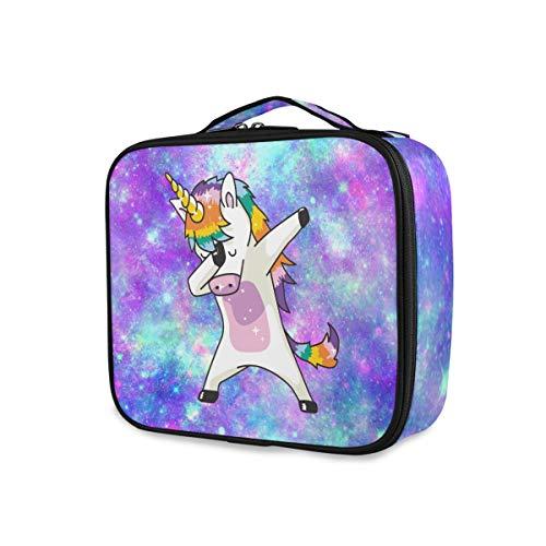 Unicorn Starry Travel Tools Cosmetic Train Case Trousse de toilette Beauty Makeup Bag Portable Storage