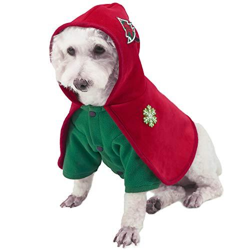 Vestiti di Natale per Cane Natale Rosso Mantello Velluto Mantelle in Costume per Cucciolo Mantello di Natale Gatto Cane Mantello per Animali Domestici Regalo per Cani Gatti Chihuahua Yorkshire XL