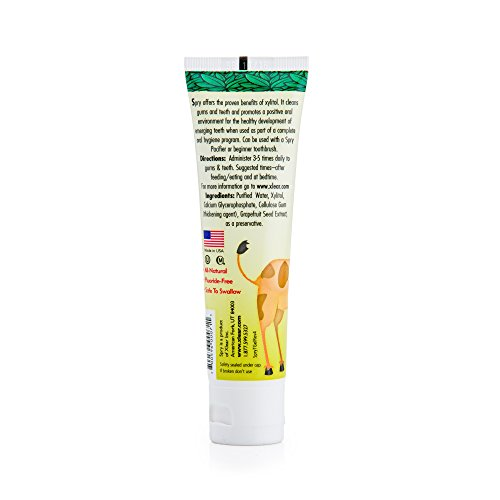 Xlear - Spry Kid's Tooth Gel with Xylitol, Original Flavor 2 oz Tube,Pk of 4