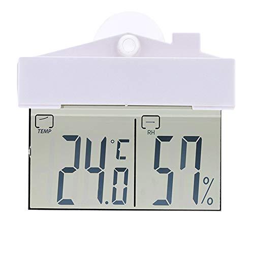 housesweet Digital Thermometer Hygrometer Monitor Saugnapf Temperatur- und Luftfeuchtigkeitsmesser Innenwetterstation