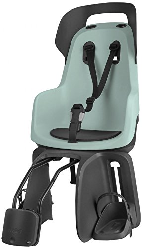 Bobike Unisex-Adult Kindersitz Mini Exclusive Fahrradsitz Hinten, Urban Black, One Size