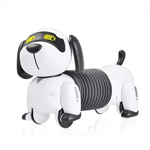 Robot perro para niños, perro robótico con control remoto, control remoto programable...