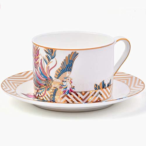 HYJBGGH Koffiemok met handvat theeservies melkglas met kopje en schoteltje Chinese kopje sap kopje wijnglas 600g keramiek mok beker