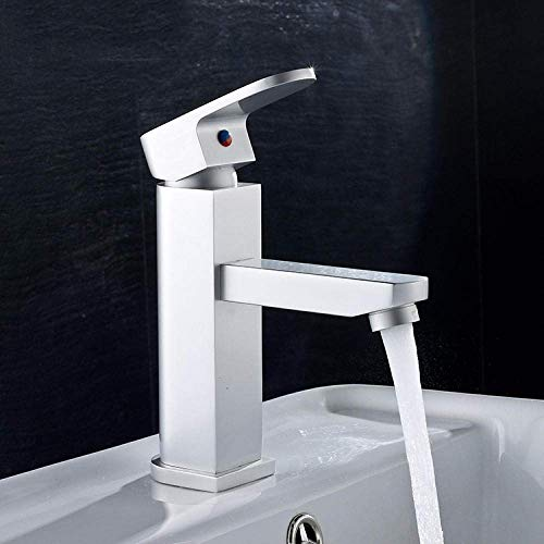 ZYL-YL Un clásico agujero agua grifo elegante aluminio espacio caliente y fría agua piscina grifo mezclador