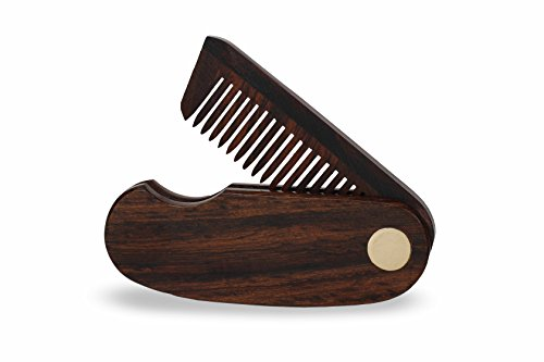 BeardHood Folding Pocket Beard Comb with Free Leather Case