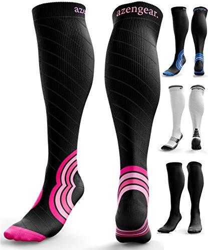 Kompressionsstrümpfe für Herren und Damen (20-30 mmHg) - Kompressionssocken - Krampfadern Socken - Thrombosestrümpfe - Geschwollene Beine - Ödeme - Laufen - Sport - Flug - Reisen - S/M