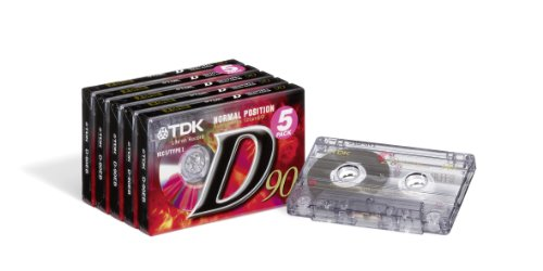 TDK T02456 Audio Kassette D-90 (5 Stück) 90 Minuten Spielzeit