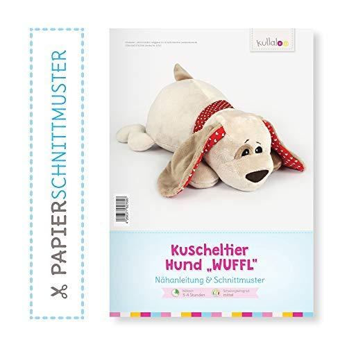 "kullaloo Hund nähen: Papierschnittmuster Hund ""WUFFEL"""