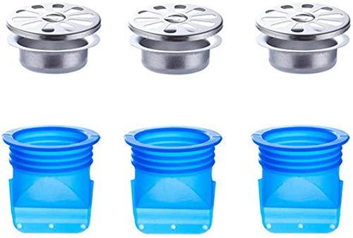 Surfilter Deodorant-Dichtring für Abwasserkanäle Spülbecken-Abflussverschlüsse und -Siebe - Rücklaufverhinderer-Kernabdeckung für Badezimmer - Abwassersiebe für Abwasserkanäle, Silikon-Verstopf