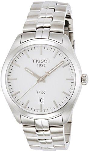 TISSOT Herren Analog Quarz Uhr mit Edelstahl Armband T1014101103100
