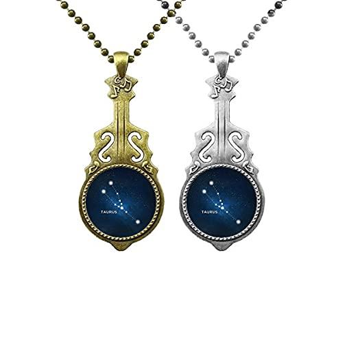 Taurus Sternbild Sternzeichen Liebhaber Musik Gitarre Anhänger Schmuck Halskette Anhänger