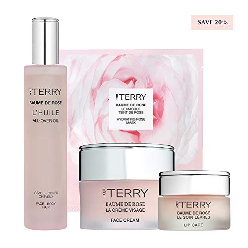 By Terry Skincare Saviours Set  Baume de Rose Bundle   4 Products   Lip Balm, Face Cream, Sheet Mask and Hair & Body Oil