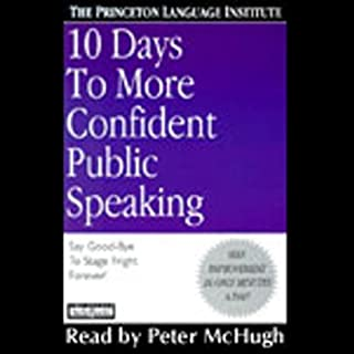 10 Days to More Confident Public Speaking audiobook cover art