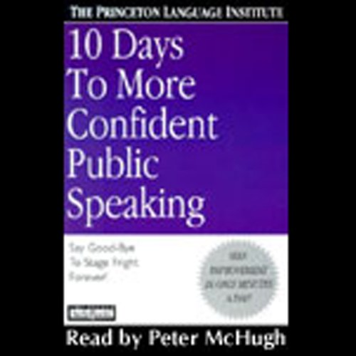 10 Days to More Confident Public Speaking cover art