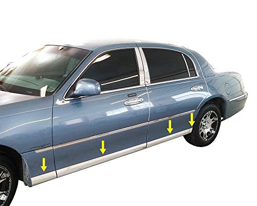 6PC Stainless Steel Pillar Post Trim PP38681 For LINCOLN TOWN CAR 1998-2011