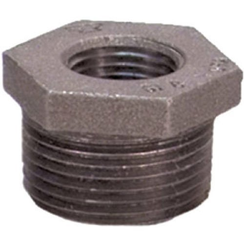 Anvil 8700128807, Steel Pipe Fitting, Hex Bushing, 1/4' NPT Male x 1/8' NPT Female, Black Finish