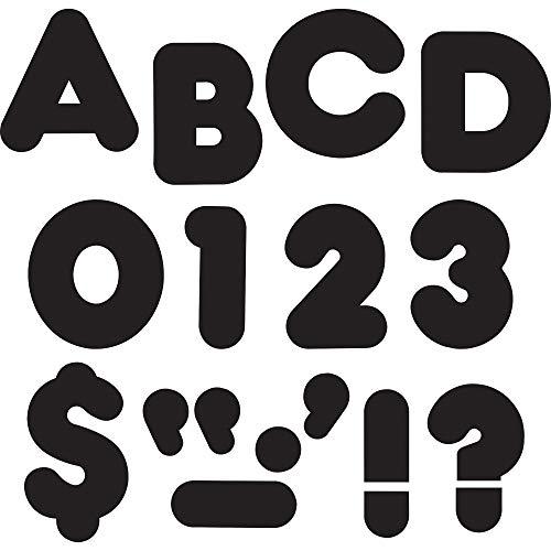 "TREND enterprises, Inc. Black 3"" Casual Uppercase Ready Letters"