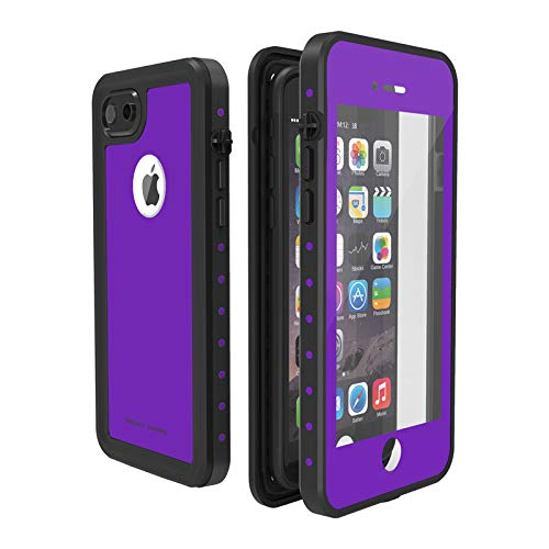 ImpactStrong iPhone 7/8 Waterproof Case [Fingerprint ID Compatible] Slim Full Body Protection for Apple iPhone 7 and iPhone 8 (4.7 inch) - Purple