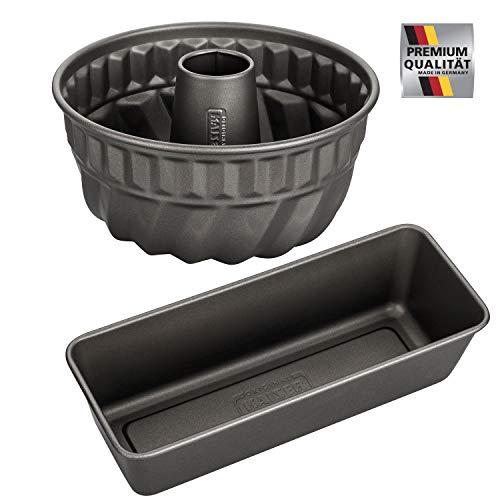 Kaiser-La Forme Backformen Set mit Brot-und Kuchenform, Antihaftbeschichtet, Ofenfest bis 230°C, Made in Germany (Brotbackform + Bundform)