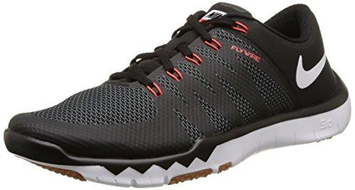 Nike NIKE FREE TRAINER 5.0 V6 Herren Laufschuhe, Schwarz/Weiß (BLACK/WHITE-CL GRY-BRGHT CRMSN 016), 42