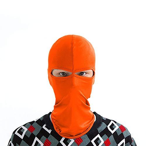 ZLZL Outdoor Sonnenmaske Sport Doppelloch Taktische Haube Fahrrad Fahren Winddicht Staubdicht Multicolor Optional Haube Motorhaube Motorrad,Orange