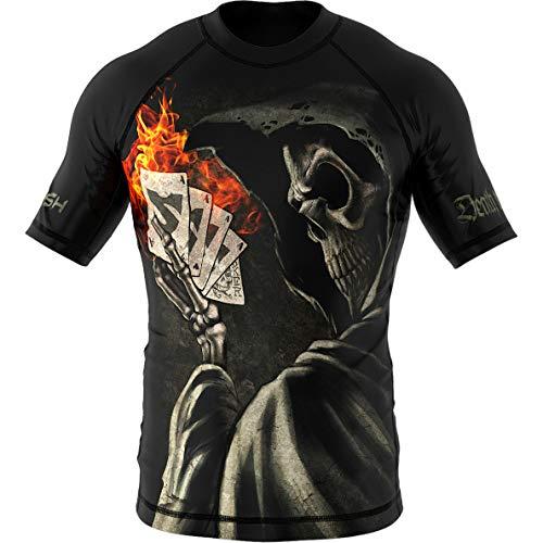 SMMASH Joker Rashguard Hombre Manga Corta, Camisetas Hombre para MMA, Artes Marciales,...