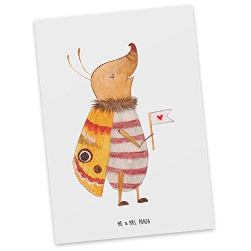 Mr. & Mrs. Panda inbjudan, vykort, nattfilt med flaggor – färg vit