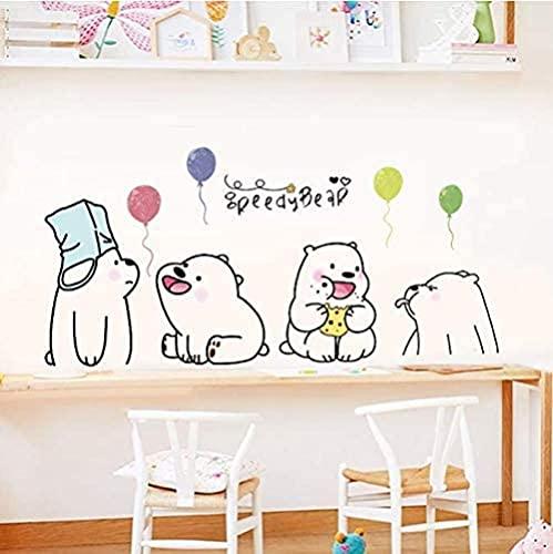 Dibujos animados lindo perezoso oso polar pegatinas de pared para niños sala de estar sala de estar decoración fondo niño habitación de los niños calcomanías de pared Cartel 52 * 105cm