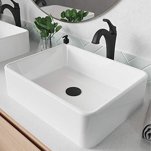 Kraus C-KCV-121-1200MB ELAVO Sink Faucet Bathroom Set, Matte Black - Arlo