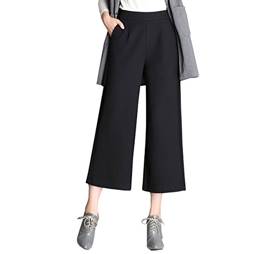 LANMWORN Donne Pantaloni Larghi A Vita Alta Cintura Elastica Palazzo Trousers, Pantaloni Lunghi Sciolti Casuali Lunghi 2017