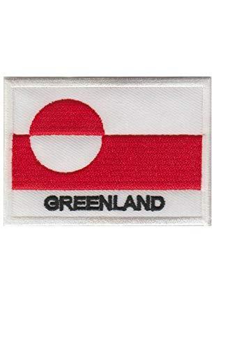 Aufnäher mit Grönland-Flagge, bestickt, zum Aufbügeln, Souvenir, Zubehör