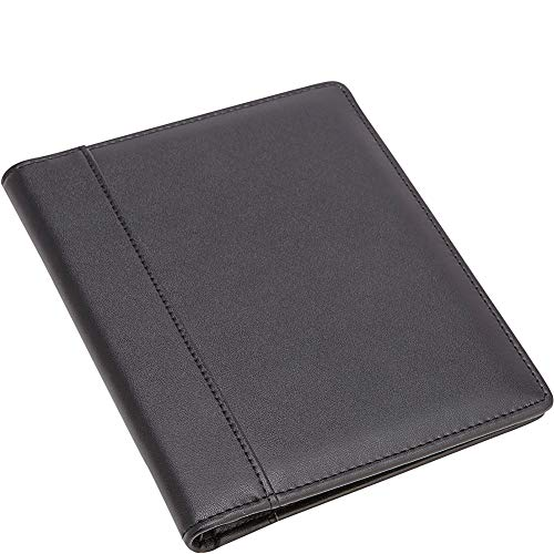 Royce Genuine Leather Prescription Pad Holder Padfolio — Pad Folder Cover and Organizer for Medical Notebook and Notes — Black 6.8 x 5.5 x 0.8 Inches