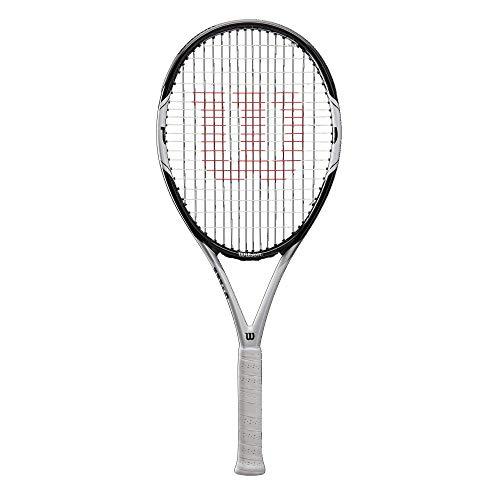 Wilson Tennisschläger, Federer Pro 105, Unisex, Anfänger und Freizeitspieler, Griffstärke L3, Schwarz/Weiß, WRT56610U3