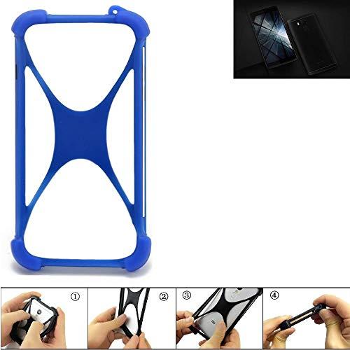 K-S-Trade® Handyhülle Für Vernee Apollo X Silikon Schutz Hülle Cover Case Bumper Silikoncase TPU Softcase Schutzhülle Smartphone Stoßschutz, Blau (1x),
